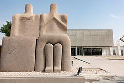 Sculpture The Ship Zone by Adam Henein at Mathaf: Arab Museum of Modern Art, Doha , Qatar.