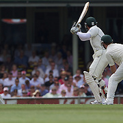 Misbah-ul-Haq is caught by Michael Hussey during the Australia V Pakistan 2nd Cricket Test match at the Sydney Cricket Ground, Sydney, Australia, 6 January 2010. Photo Tim Clayton