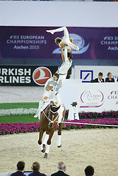RSV Neuss-Grimlinghausen Team, (GER), Delia FRH<br /> Female Squad Final Freestyle Test<br /> FEI European Championships - Aachen 2015<br /> © Hippo Foto - Dirk Caremans<br /> 23/08/15