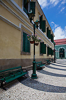 St Augustine's square is a quiet serene area surrounded by beautiful old colonial style buildings, mosaic paths and cobblestone roads.