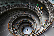 Spiral staircase in the Vatican museums (Italian: Musei Vaticani)