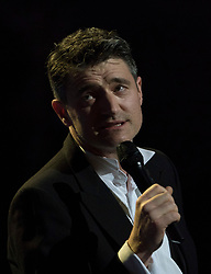 Tom Chambers performing at the Royal Albert Hall in London during a star-studded concert to celebrate the Queen's 92nd birthday.