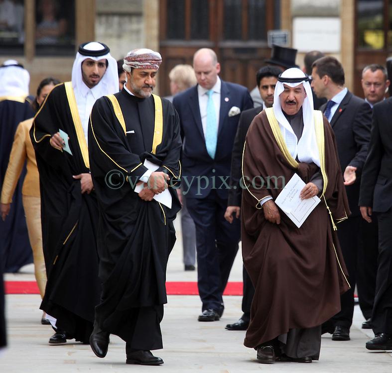 29 April 2011. London, England..Royal wedding day. Unid'd Arabian Princes depart Westminster Abbey. .Photo; Charlie Varley.