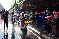 April 13, 2017 - Chiangmai, Thailand - People in Chiang Mai, Thailand are celebrating Songkran Water Festival to welcome their New Year 2560 by doing parade throwing water to each other around the road, Thursday, April 13th 2017. They believe with water as a symbol of happiness and purification they could be a better person in the new year. (Credit Image: © Keyza Widiatmika/NurPhoto via ZUMA Press)