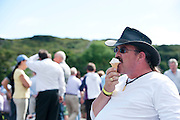 Noel Mills from Tuam at the Connemara Pony Show at the Show grounds in Clifden enjoying an icecream. Photo:Andrew Downes