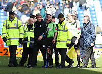 Photo: Mark Stephenson.<br /> West Bromwich Albion v Birmingham City. Coca Cola Championship. 18/03/2007.Birmingham's Steve Bruce has words with the referee Mr A Riley about the sending off