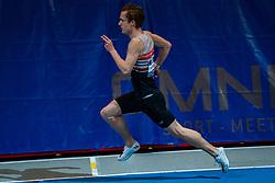 Tony van Diepen in action on the 400 meter during AA Drink Dutch Athletics Championship Indoor on 20 February 2021 in Apeldoorn.