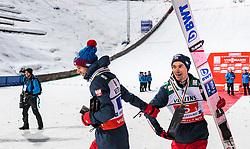 21.01.2018, Heini Klopfer Skiflugschanze, Oberstdorf, GER, FIS Skiflug Weltmeisterschaft, Teambewerb, Siegerehrung, im Bild Kamil Stoch (POL), Piotr Zyla (POL) // Kamil Stoch of Poland, Piotr Zyla of Poland during Winner Award Ceremony of the Team competition of the FIS Ski Flying World Championships at the Heini-Klopfer Skiflying Hill in Oberstdorf, Germany on 2018/01/21. EXPA Pictures © 2118, PhotoCredit: EXPA/ JFK