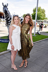 Left to right, sisters Alice Mackintosh and Millie Mackintosh at The Investec Derby, Epsom, Surrey England. 3 June 2017.<br /> Photo by Dominic O'Neill/SilverHub 0203 174 1069 sales@silverhubmedia.com