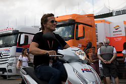 September 7, 2017 - San Marino, RN, Italy - Sete Gibernau technical analyst of Repsol Honda Team during the Tribul Mastercard Grand Prix of San Marino and Riviera di Rimini, at Misano World Circuit ''Marco Simoncelli'', on September 07, 2017 in Misano Adriatico, Italy  (Credit Image: © Danilo Di Giovanni/NurPhoto via ZUMA Press)