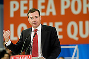 Meting of the opening of the election campaign of the Spanish Socialist Party (PSOE).Tomas Gomez.