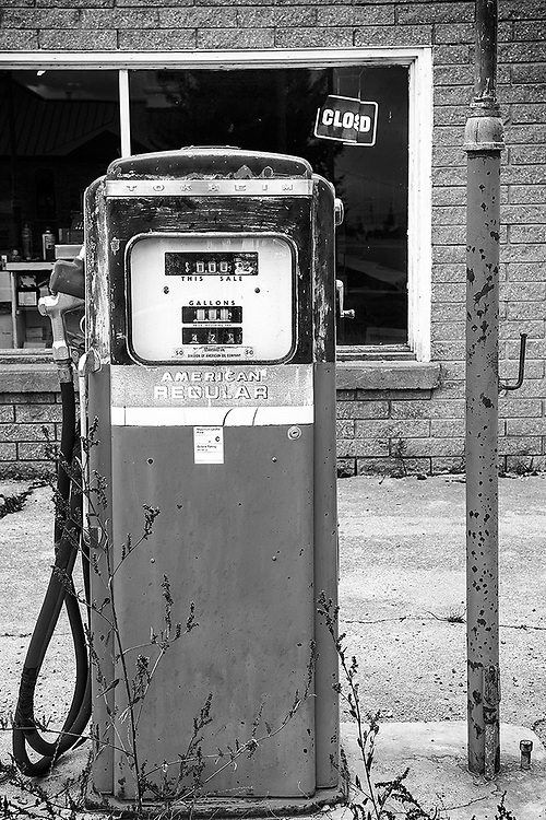 An old gas pump in Freedom, Wyoming.