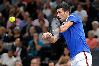 Novak DJOKOVIC (SRB) during the ATP World Tour Masters 1000 indoor tennis tournament, BNP Paribas Masters in Bercy (AccorHotels Arena),  Paris, France, on October 31 to November 8, 2015. Photo Stephane Allaman / DPPI