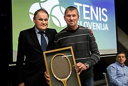 Marko Umberger and Jiri Volt during General Assembly of Slovenian Tennis Federation, on December 12, 2018 in Kristalna palaca, Ljubljana, Slovenia. Photo by Vid Ponikvar / Sportida