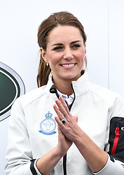The Duchess of Cambridge at The King's Cup Regatta, Cowes, Isle of Wight. Photo credit should read: Doug Peters/EMPICS