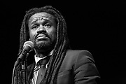 Rev Sekou and the Holy Ghost performing at Susquehanna University in Selinsgrove, Pennsylvania on March 23, 2016.