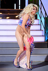 ***EDITS NOTE NUDITY*** <br />Courtney Act enters the house during the Celebrity Big Brother Men's Launch held at Elstree Studios in Borehamwood, Hertfordshire. PRESS ASSOCIATION Photo. Picture date: Friday January 5, 2018. See PA story SHOWBIZ CBB Housemates. Photo credit should read: Ian West/PA Wire