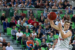 Luka Rupnik of Union Olimpija during basketball match between KK Union Olimpija Ljubljana and Telekom Baskets Bonn (GER) in Round 3 of EuroCup 2015/16, on October 28, 2015 in Arena Stozice, Ljubljana, Slovenia. Photo by Matic Klansek Velej / Sportida.com