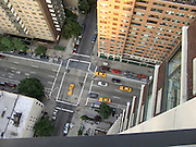 looking down on to First Avenue New York City