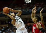 Tory Everett (3) of Richardson Berkner shoots the ball against Fort Bend Travis during the UIL Conference 5A semifinals at the Frank Erwin Center in Austin on Friday, March 8, 2013. (Cooper Neill/The Dallas Morning News)