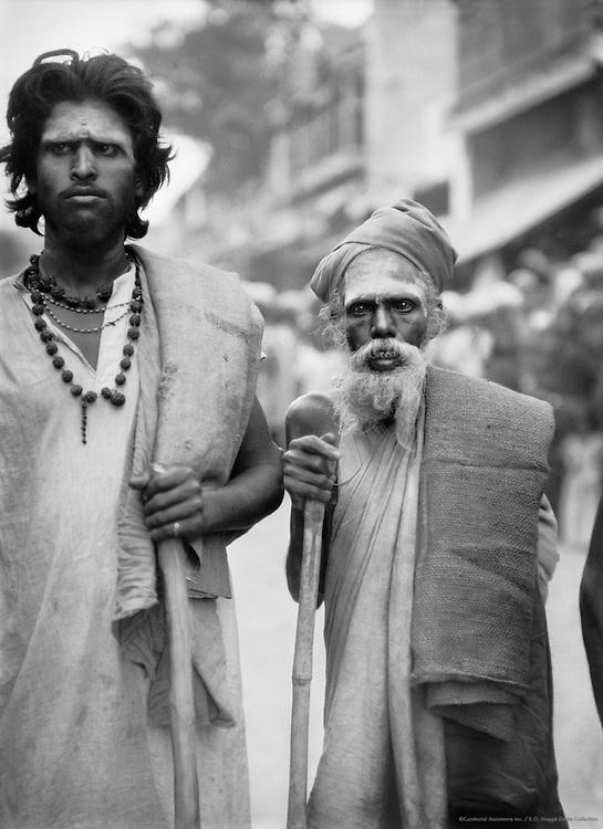 Sadhus (Holy Men), Bellary, India, 1929