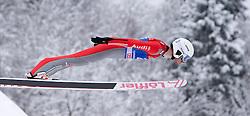 31.12.2014, Olympiaschanze, Garmisch Partenkirchen, GER, FIS Ski Sprung Weltcup, 63. Vierschanzentournee, Qualifikation, im Bild Daniel Wenig (GER) // during qualification Jump of 63rd Four Hills Tournament of FIS Ski Jumping World Cup at the Olympiaschanze, Garmisch Partenkirchen, Germany on 2014/12/31. EXPA Pictures © 2014, PhotoCredit: EXPA/ JFK