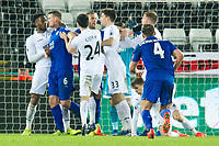 Football - 2016 / 2017 Premier League - Swansea City vs. Leicester City<br /> <br /> A scuffle in the Swansea goal mouth , at The Liberty Stadium.<br /> <br /> COLORSPORT/WINSTON BYNOTH