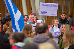 Stop the Cuts, Student Demonstration, outside The Scottish Parliament, Hollyrood, Edinburgh, 23rd March 2016<br /> (c) Brian Anderson | Edinburgh Elite media