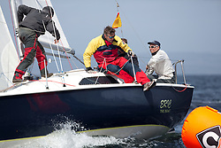 Day two of the Silvers Marine Scottish Series 2015, the largest sailing event in Scotland organised by the  Clyde Cruising Club<br /> Racing on Loch Fyne from 22rd-24th May 2015<br /> <br /> GBR8748N, Eric the Boat, Steve Goacher, RWYC<br /> <br /> <br /> Credit : Marc Turner / CCC<br /> For further information contact<br /> Iain Hurrel<br /> Mobile : 07766 116451<br /> Email : info@marine.blast.com<br /> <br /> For a full list of Silvers Marine Scottish Series sponsors visit http://www.clyde.org/scottish-series/sponsors/