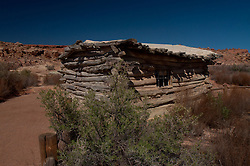 Wolfe Ranch, Arches National Park, Utah, US. Settled in 1888 by Civil War veteran John Wesley Wolfe, this 100 acre cattle ranch along the Salt Wash is a member of the National Historic Registry,