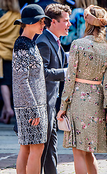 Beatrice Borromeo and Charlotte Casiraghi at the wedding ceremony of heir of the throne of German House of Hanover, Prince Ernst August Jr. of Hanover, Duke of Braunscshweig and Lueneburg, and Russian designer Ekaterina Masysheva at the Marktkirche church in Hanover, Germany, 08 July 2017. The son of Prince Ernst August of Hanover Sen., who is married to Princess Caroline of Monaco, is related to several royal houses in Europe. The House of Hanover is a German royal dynasty that also ruled the United Kingdom between. Ernst-August Sr.'s own father (Ernst-August IV) opposed his son's marriage to first wife Chantal, a Swiss commoner. Photo by Robin Utrecht/ABACAPRESS.COM