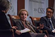 Washington, DC. Madeleine Albright speaks at CSIS in Washington, DC in 2017