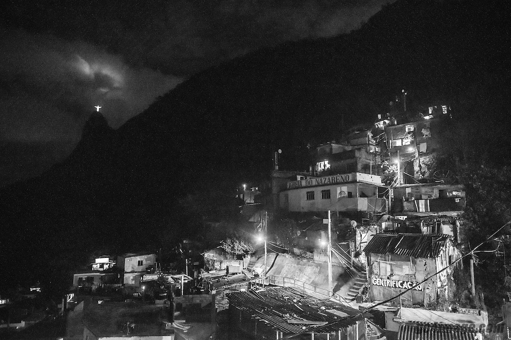 Favela Santa Marta in Rio de Janeiro, August 2016 during the Rio 2016 Olympic Games