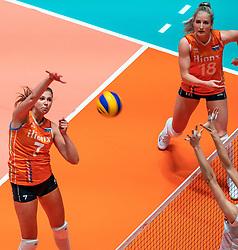 29-05-2019 NED: Volleyball Nations League Netherlands - Bulgaria, Apeldoorn<br /> Juliët Lohuis #7 of Netherlands, Marrit Jasper #18 of Netherlands