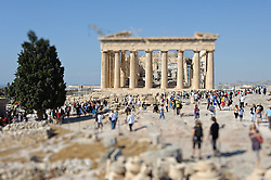 THEMENBILD - Finanzkrise in Griechenland. Bild zeigt die Akropolis. Bild wurde digital veraendert. EXPA Pictures © 2011, PhotoCredit: EXPA/ S. Zangrando