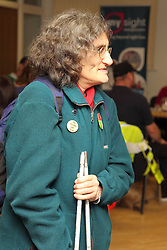 Service user at AGM of Mysight, a charity for people with visual impairments.