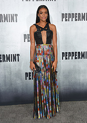 August 28, 2018 - Hollywood, California, U.S. - Annie Ilonzeh arrives for the premiere of the film 'Peppermint' at the Regal Cinemas LA Live theater. (Credit Image: © Lisa O'Connor/ZUMA Wire)