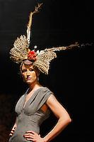 Jade Parfitt on the catwalk during London Fashion Week.
