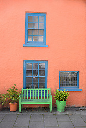 Colourful houses are a feature of Tenby, Pembrokeshire, South Wales 2021
