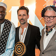 NLD/Amsterdam/20170930 - Orange Babies Gala 2017, John Kattenberg,  Baba Sylla en .....