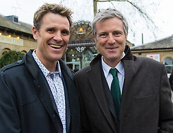 Kew, London, February 12th 2016. Conservative Mayor of London Candidate Zac Goldsmith holds a Q & A session for local residents at the Tap on the Line pub at Kew Gardens Station. PICTURED: James Cracknell lends his support to Zac Goldsmith's candidacy. ///FOR LICENCING CONTACT: paul@pauldaveycreative.co.uk TEL:+44 (0) 7966 016 296 or +44 (0) 20 8969 6875. ©2015 Paul R Davey. All rights reserved.