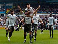 Photo: Jed Wee/Sportsbeat Images.<br /> Carlisle United v Bristol City. Coca Cola League 1. 21/04/2007.<br /> <br /> Bristol City celebrate with goalscorer Bradley Orr (C).