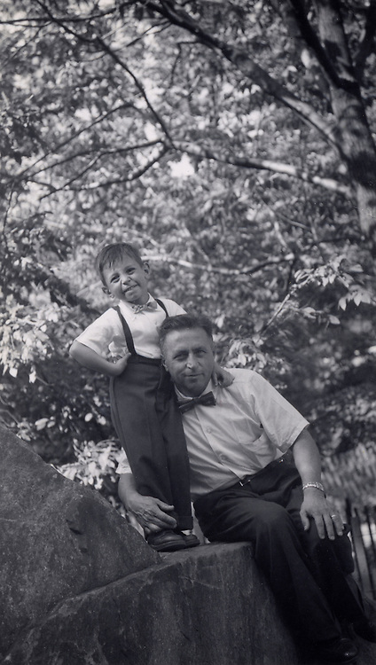 Father and his son in a park