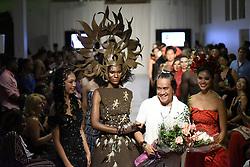 August 18, 2017 - Toronto, Ontario, Canada - Designer ''John Ablaza'' greeting audience and congratulating his models during the African Fashion Week in Toronto, Canada on 18 August 2017. (Credit Image: © Arindam Shivaani/NurPhoto via ZUMA Press)