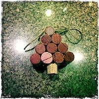 16 December 2013:  Christmas Tree wine cork idea in Temecula, California.  Stock Photo