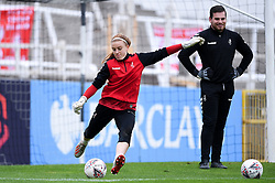 Sophie Baggaley of Bristol City Women warms up prior to kick off - Mandatory by-line: Ryan Hiscott/JMP - 18/10/2020 - FOOTBALL - Twerton Park - Bath, England - Bristol City Women v Birmingham City Women - Barclays FA Women's Super League
