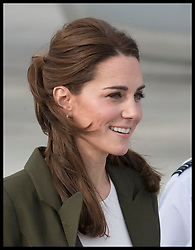 December 5, 2018 - Cyprus - Image licensed to i-Images Picture Agency. 05/12/2018. RAF Akrotiri, Cyprus. The Duke and Duchess of Cambridge  arriving at RAF Akrotiri in Cyprus where they met with Serving personnel and their families living on the base  (Credit Image: © Stephen Lock/i-Images via ZUMA Press)