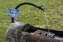April 25, 2018 - BRABANT, BELGIUM - Drinkable water | .Bac d'eau potable  25/04/2018 (Credit Image: © Jean-Marc Quinet/Belga via ZUMA Press)