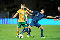 Australia's James Holland vies with France's Yohann Cabaye during the International football Friendly Game 2013/2014 between France and Australia on October 11, 2013 in Paris, France. Photo Jean Marie Hervio / Regamedia/ DPPI