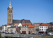 Nederland, Roermond, 15-7-2011Zicht op de stad Roermond vanaf een brug over de Roer. Stadsgezicht.Foto: Flip Franssen/Hollandse Hoogte